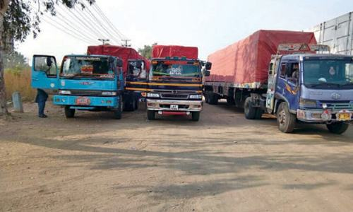 Containers impounded for blocking marchers