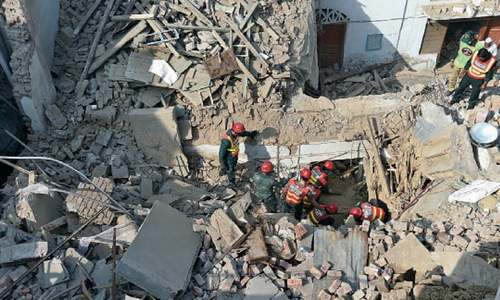 One killed, six injured in roof collapse after explosion