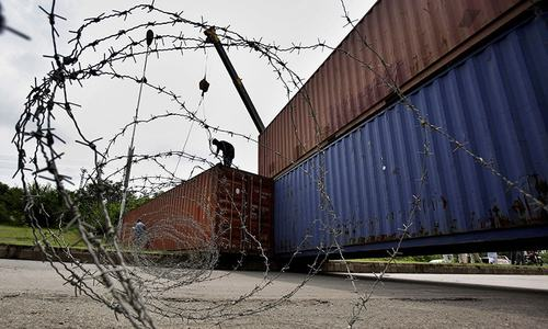 Containers impounded in Punjab ahead of PTI 'lockdown'