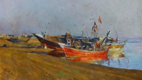 With simple landscapes, painter Kaleem Khan shows us the unseen Balochistan