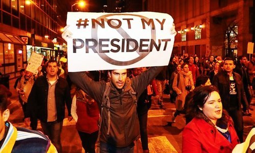 Thousands of anti-Trump protesters take to streets across US