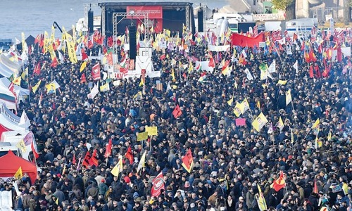Kurds protest against Erdogan in Germany