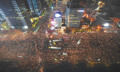 'Million-strong' protest tells South Korean president to quit
