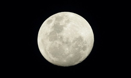 Largest supermoon in nearly seven decades shines brightly