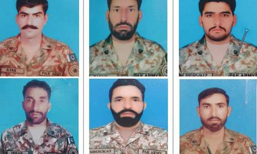 In the line of fire: Pakistani soldiers who were killed last night