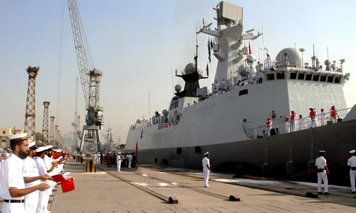 Chinese Navy flotilla docks at Karachi for bilateral exercises