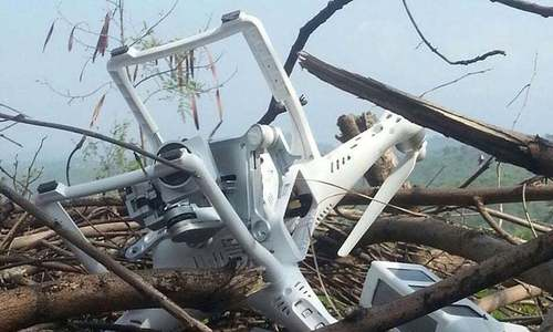 Indian quadcopter shot down by Pakistani forces near LoC: ISPR