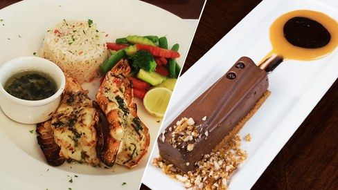 Grilled Jumbo Prawns and the Chocolate Log are winners on Lahore Social's new menu