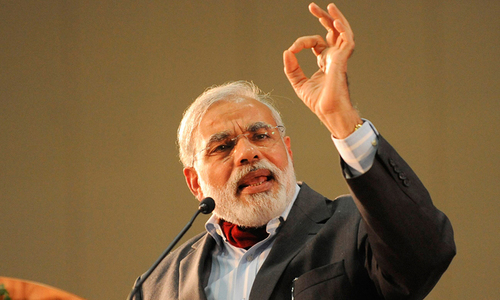 India's Modi calls for move towards cashless society