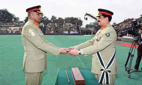 General Bajwa takes charge as Pakistan's 16th army chief