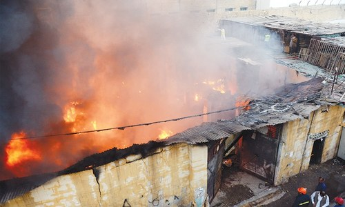 Two warehouses in historical temple compound destroyed by fire