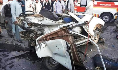 Seven killed on road in Jamrud