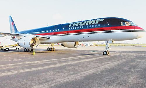 How does Donald Trump's private jet match up to Air Force One?