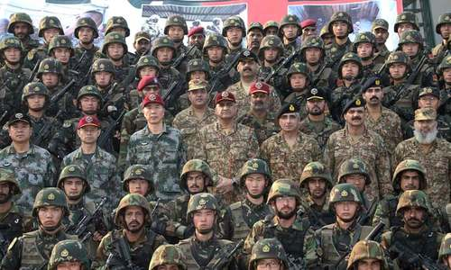 Army chief witnesses  Pak-China drill at counter-terror training centre