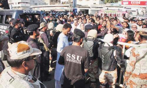 MQM workers clash with law enforcers over Yaum-i-Shuhada events