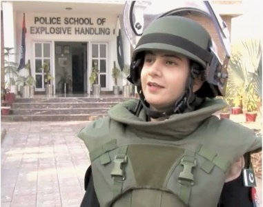 Training to be Pakistan's first female bomb disposal officer