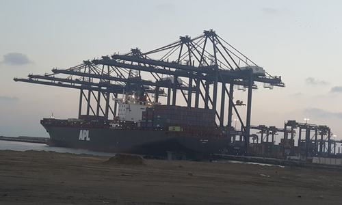 Country's biggest port starts test operations