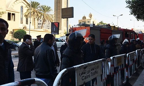 Blast inside Cairo's Coptic cathedral kills at least 20, injures 49
