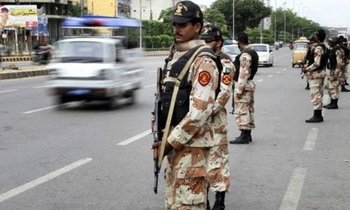 Rangers conduct multiple raids in Karachi, arrest five suspects