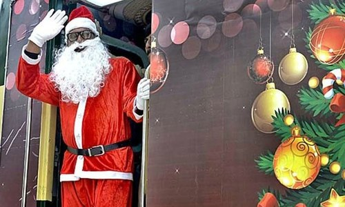 What would a desi Santa Claus eat?