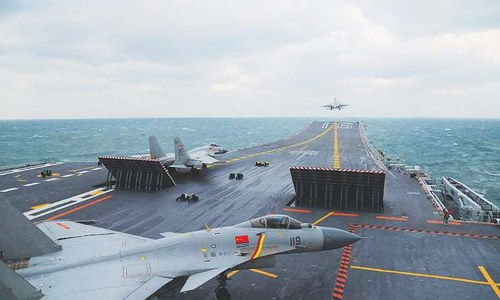 China flexes military muscle before Trump takes office