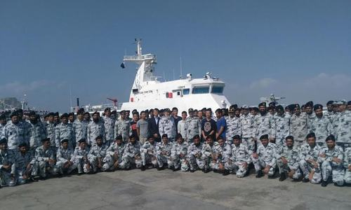 China hands over two ships to Pakistan for maritime security