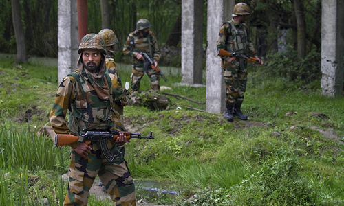 Three suspected militants killed in held Kashmir gun battle