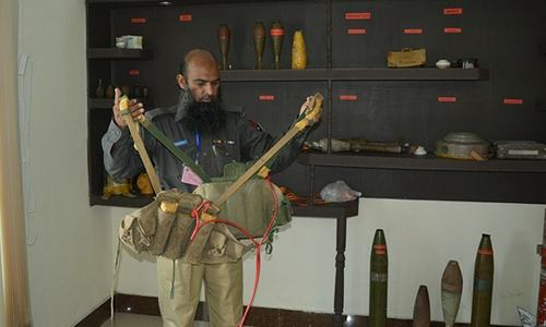 Two suicide jackets recovered from mosque