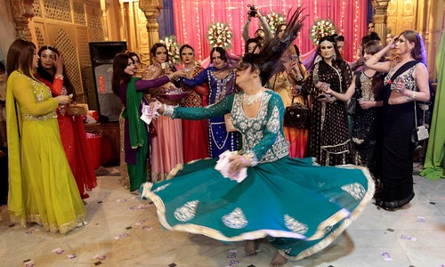 Saris swirl at rare transgender 'birthday' party in Peshawar