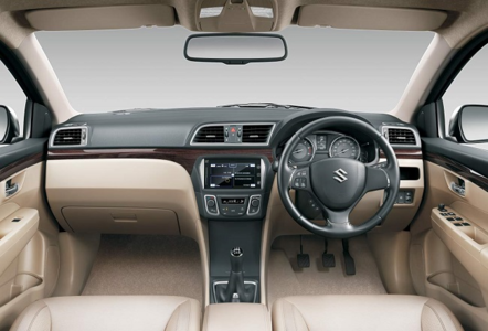 Interior of Suzuki Ciaz.