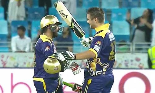 Rossouw, Ahmed added 130 runs for the fourth wicket partnership.