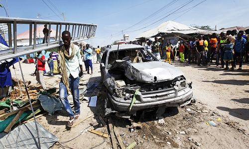 At least 14 killed in Mogadishu car bombing