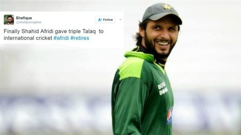 Shahid Afridi announces his retirement (again) but Twitter isn't buying it