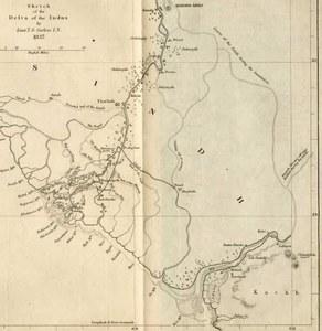 انڈس ڈیلٹا کا نقشہ (1838) — ابوبکر شیخ