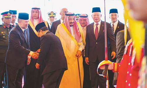 Saudi king in Malaysia on first leg of Asia tour