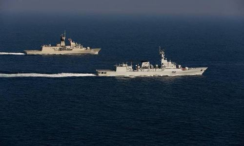 Pakistan Navy warships conduct exercises with Sri Lankan Navy during port visit