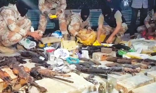 Rangers seize huge cache of arms from  public park
