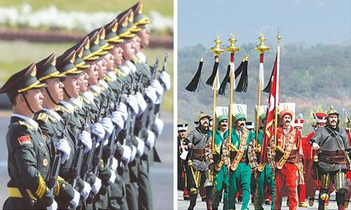 Show of military power at annual parade