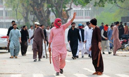 Tensions prevail at PU after Jamiat's clash with Pakhtun students
