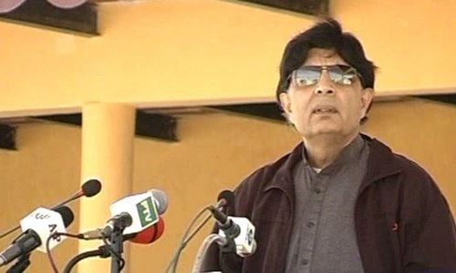 Chaudhry Nisar tells new FC recruits they have to bring peace to Balochistan