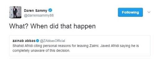 Afridi quits Peshawar Zalmi citing 'personal reasons ...