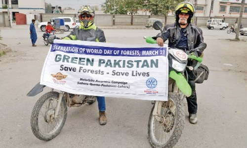 Motorcyclists advocate forest protection