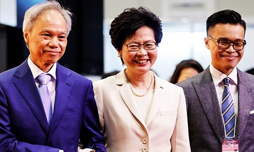 Beijing favourite Lam wins Hong Kong leadership