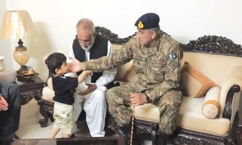 Bajwa pays tribute to fallen soldier's kin