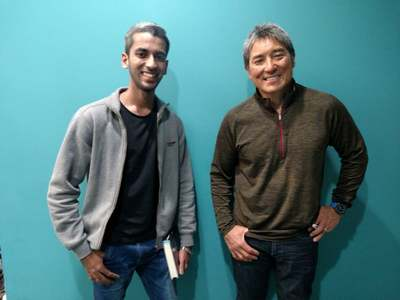 *Sameer and Guy Kawasaki*