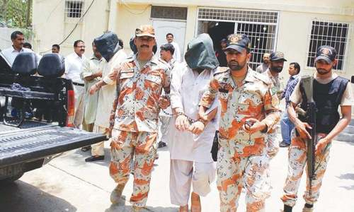 Rangers arrest five including MQM-L working for 'causing riots'