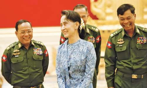Myanmar stumbles on path to democracy under Suu Kyi