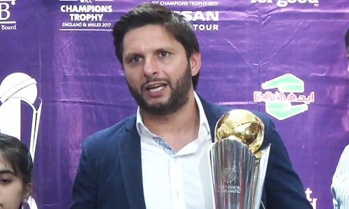 ICC Champions Trophy arrives at Edhi home in Karachi
