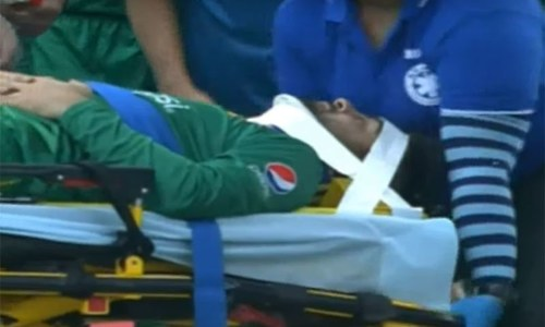 Ahmed Shehzad back in field after suffering neck injury during T20 match with West Indies