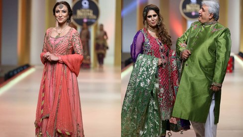 The best celebrity showstoppers from Bridal Couture Week Day 1
